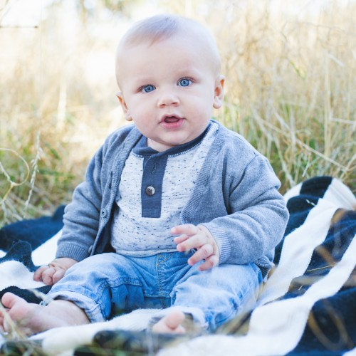 Mr. Easton is 6 months!: Puyallup Family Portraits: Puyallup Photographer
